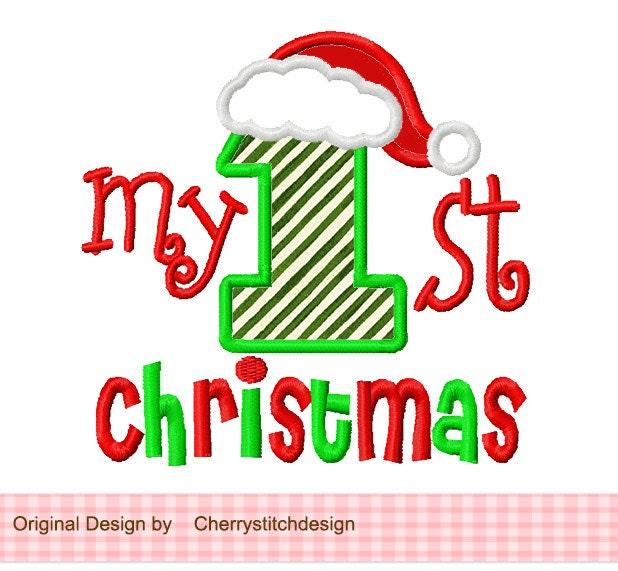 Christmas Embroidery Design My 1st Christmas Machine