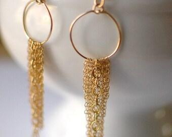 Gold Rain Earrings