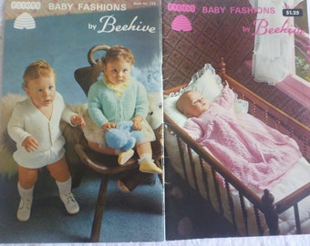 Baby Fashions by Beehive - No.133, christening dress, jacket, leggings bonnet, booties, poncho. knit and crochet : 1032