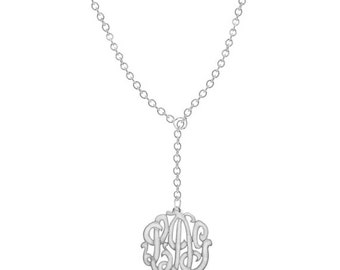 Order Initials of YOUR choice on Sterling Silver Handmade Monogram - 1 inch wide - ZC90834RL-SS