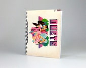 """Famous Duets from the Opera - Upcycled 8.5x11"""" vinyl album cover agenda / planner / journal / sketchbook / notebook"""