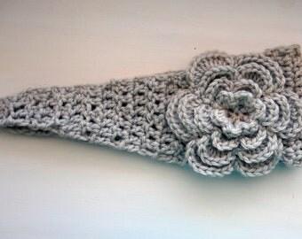 CROCHET HEADBAND FLOWER BUTTON CLOSURE ? Only New Crochet ...