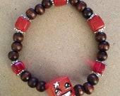 Super Meat Boy inspired Bracelet