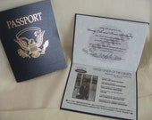1 Passport Wedding Invitation Sample: Custom Made To Order When Purchased In Multiples