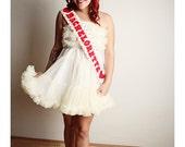 Red White Polka Dot Sash BACHELORETTE  Hearts Handmade Wedding Bridal Shower Bachelorette Party
