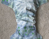 Custom Order for Brianna -- Tie Dye Modern Cloth Nappy and Singlet Set