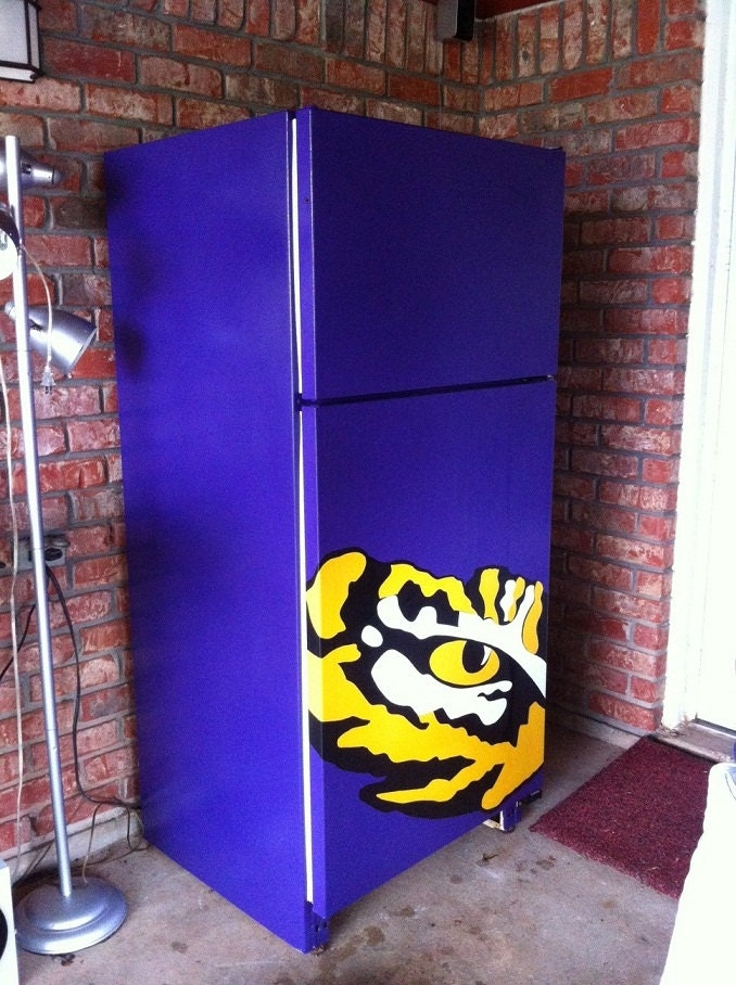 Wall Decal Refrigerator Decal Lsu Tiger Eye Vinyl Sticker