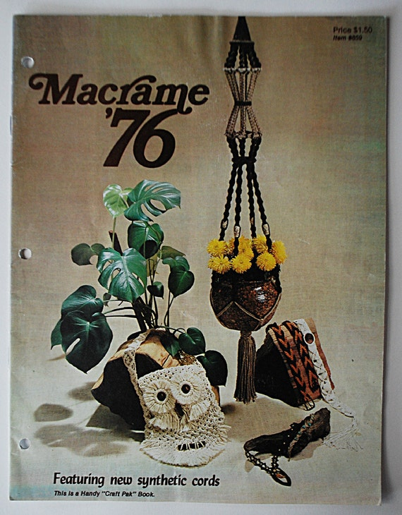1976 Vintage Macrame Crafting Book