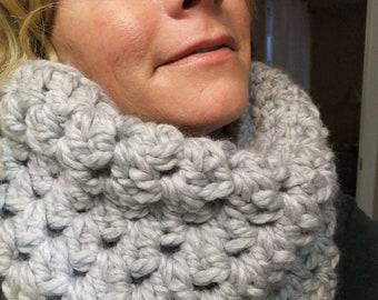 Grey Goose Chunky Cowl Crochet Pattern - PDF Pattern - Cowl Crochet Pattern