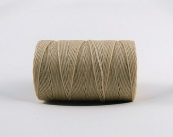 Natural Cream Irish waxed linen cord 4ply (10 yards) - Irish linen cord, Irish linen thread, cream Irish linen, uk irish linen