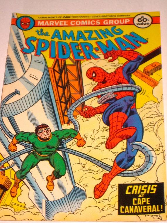 Vintage Super Spiderman Comic Crisis at Cape Canaveral 1982