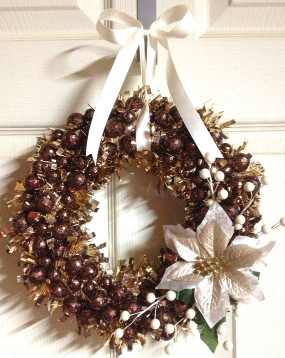Winter bronze wreath christmas holiday by wreathunique