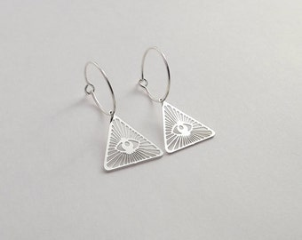 "End of collection-20% earrings ""I SEE U"" silver"