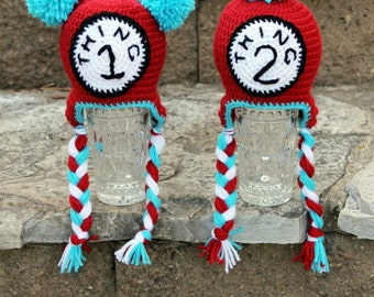 Thing 1 & Thing 2 Twin Hats