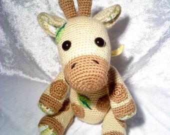 "PDF crochet pattern - pattern ""Giraffe Gretchen"""