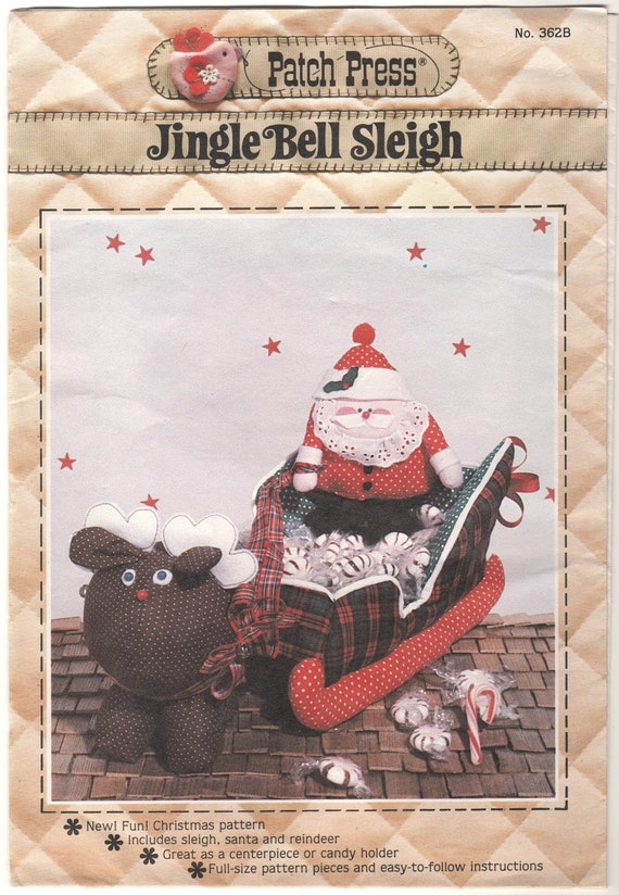 Jingle Bell Sleigh - OOP Patch Press