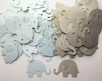 100 Blue and Grey Elephant Confetti, Die Cut Elephants, Children Birthday, Baby Shower Decor, Blue Elephant, Gray Elephant, Table Decor