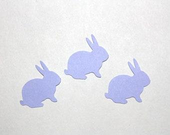 50 Lavender Bunny Confetti, Die Cut Bunnies, Birthday Party Supplies, Baby Shower, Easter Confetti, Scrapbook, Purple Rabbits