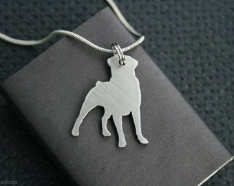 free shipping - Rottweiler Rott Rottie Charm Jewelry Stainless steel Pendant Necklace with chain and cord