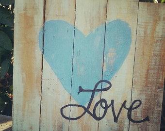 Amor Pallet Sign
