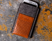 Samsung S3 - S4 - S6 case sleeve, wool and leather cover by ostfold