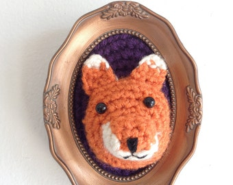 Mounted crochet Freddy the Fox