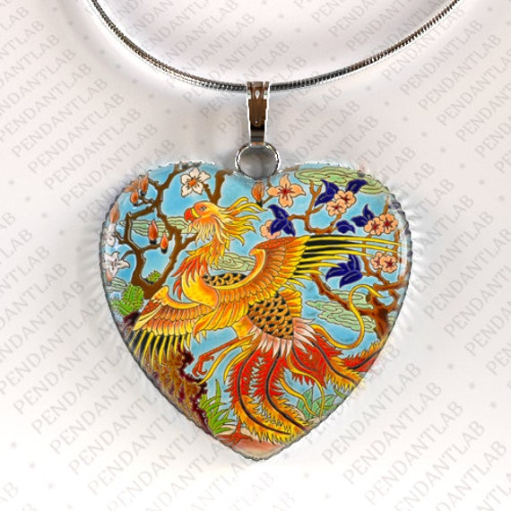 phoenix pendant phoenix necklace phoenix jewelry by pendantlab