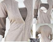 JENNY Maternity Clothes / Nursing Tops for Breastfeeding / NEW MOCHA / Adjustable Waist / Nursing Clothes