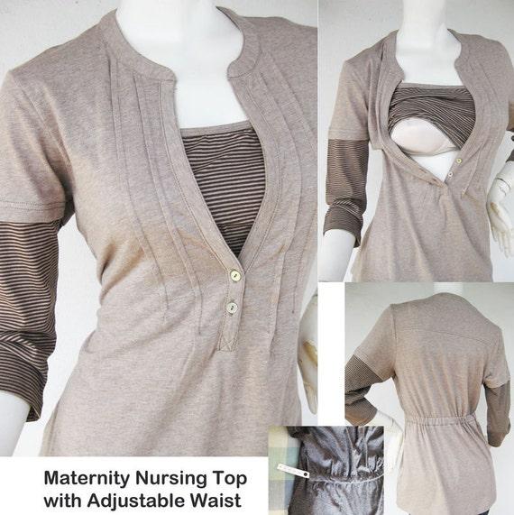 Jenny Maternity Clothes Nursing Tops For Breastfeeding New