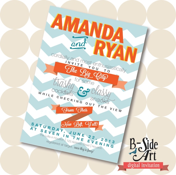 Loft Apartment or House Warming Party Invitation – Apartment Warming Party Invitations
