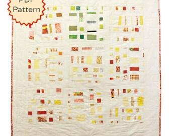 PDF Quilt Pattern. Improvisational Confetti Quilt Pattern. Modern Quilt Pattern by Peppermint Pinwheels