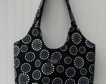 Boho Tote Bag in Spiral Dot