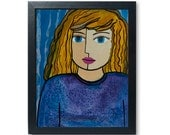 Blue Eye Blond Girl Art P...