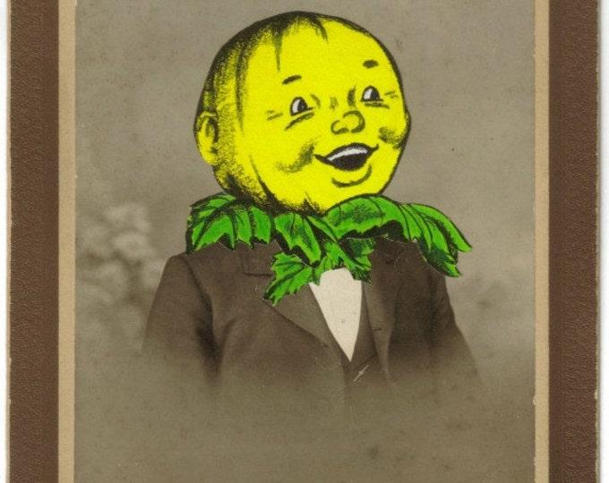 Pumpkinhead Art Collage, Yellow Pumpkin Artwork