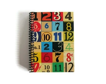 Numbers and Colors - Spiral Bound Notebook - 4x6in