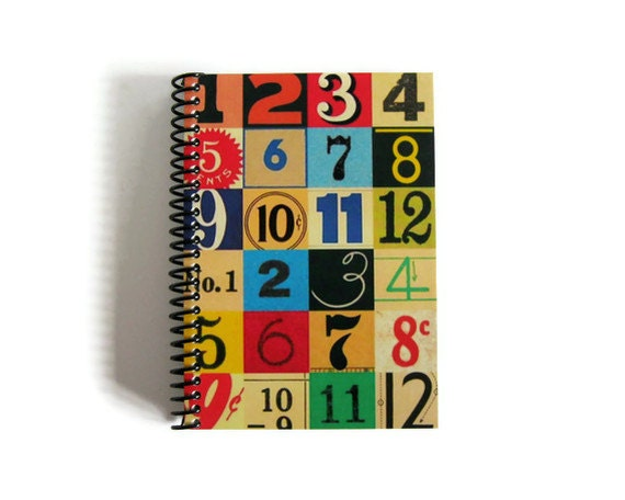 Notebook, Numbers, Back to School, Diary Journal, Gifts Under 15, Blank Notebook, Blank Journal, Writing Journal, Sketchbook