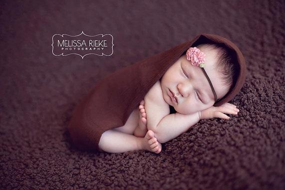 Newborn Headband Small Baby Girl Headband / Infant Headband / MARLEY Pink Rose Flower Newborn Headband Photo Prop Little Bows MORE COLORS