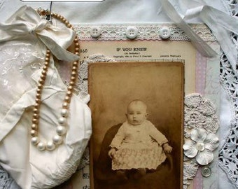INSTANT DOWNLOAD Sweet Bebe Altered Cabinet Card Canvas PDF Tutorial