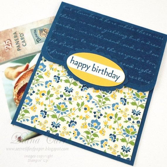 Birthday Gift Card Holder Birthday Money Card Hand Stamped