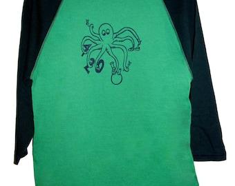 5 DOLLAR SALE: Smoking 420 Octopus Adult Shirt
