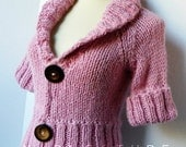 The Jacket Shrug - Luxurious Baby Alpaca - In Peony Pink / Fall Winter Fashion