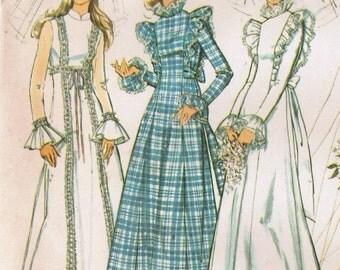 1970s Simplicity 5313 UNCUT Vintage Sewing Pattern Misses Wedding Dress, Bridal Gown, Bridesmaid Dress Size 10 Bust 31-1/2