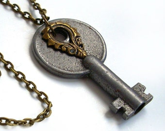 Key Necklace Handmade Jewelry - Key to the Tower