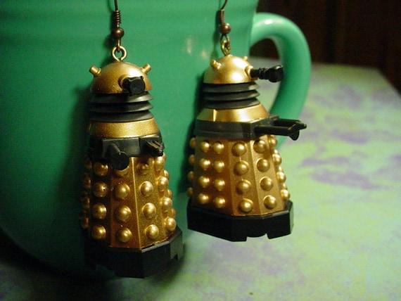 SALE Russell T Davies style Doctor Who Daleks Earrrings