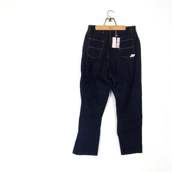 1950s Blue Jeans / Deadstock Denim / Blue Bell / 50s Womens Jeans / Rockabilly Jeans / 31-33W Large L