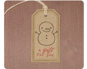Adorable Snowman Holiday Gift Tags : Set of 10
