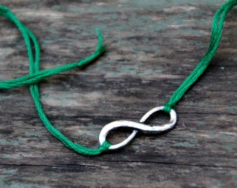 valentine friendship bracelet emerald green infinity jewelry valentines day gift for her best friend wish bracelet wishlet romantic jewelry