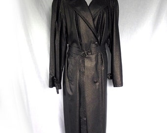 80s Claude Havrey Trench Coat Raincoat Gold Raindrops Sz M to Sz L