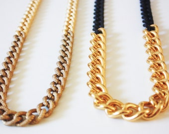 SALE: Taupe & Gold Chain Necklace