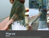 Hap-py shawl PDF pattern